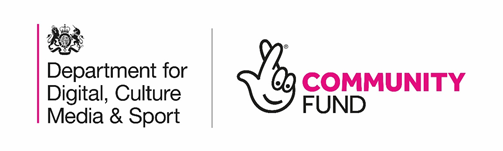 Logos for Department for Digital, Culture, Media & Sport, and Community Fund