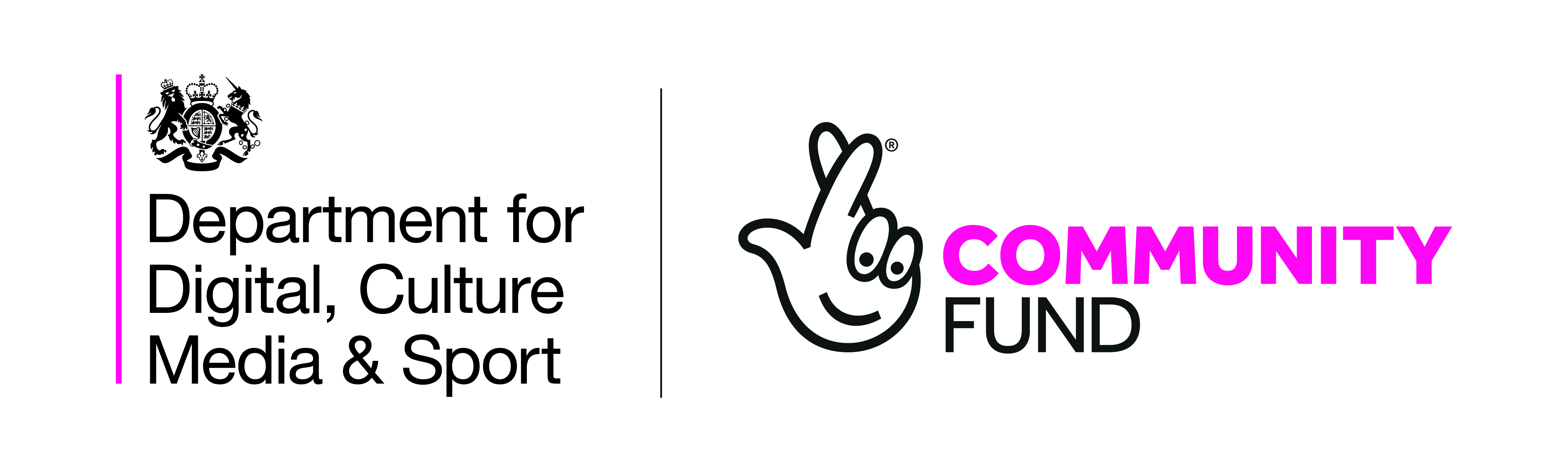 DCMS and Nastional Lottery Community Fund logos