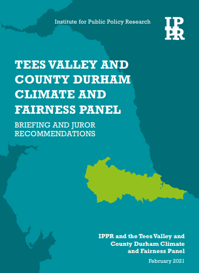 Front cover of IPPR Citizen Jury Panel Recommendations report