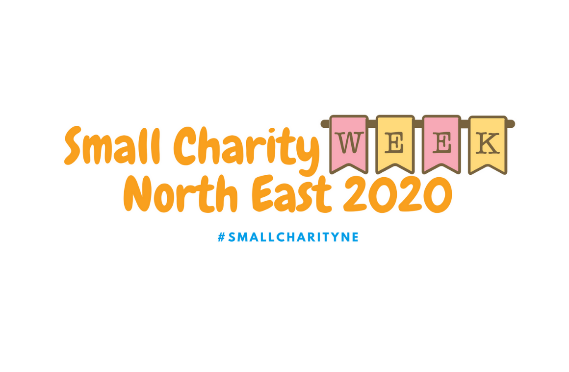 The Small Charity Week North East 2020 logo #SmallCharityNE